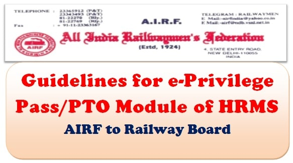 guidelines-for-e-privilege-pass-pto-module-of-hrms-airf-to-railway-board